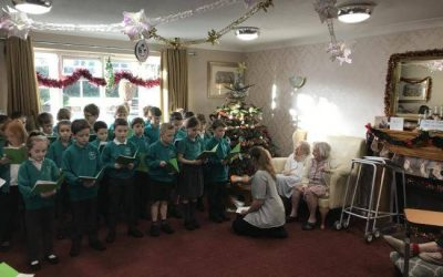 Brown Clee Buddies share the joy at local care home